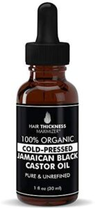 Hair Thickness Maximizer Cold-Pressed Jamaican Black Castor Oil